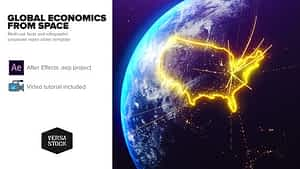 Global Economics From Space Infographics | After Effects Project