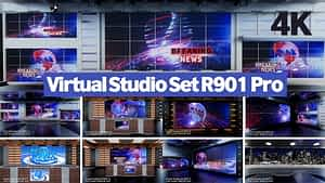 Virtual Studio Set R901 Pro After Effects Project