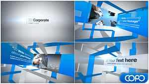 3D Corporate Video Display | After Effects Project