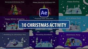 Christmas Activity Scenes   After Effects   After Effects Project