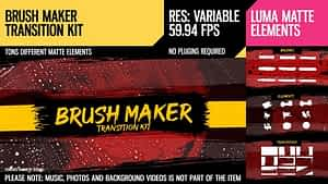 Brush Maker (Transition Kit) | After Effects Project