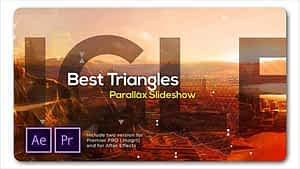 Best Triangles Parallax Slideshow After Effects Project
