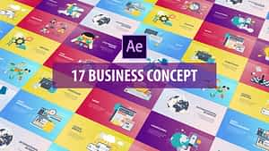 Business Concept – Flat Animation | After Effects Project