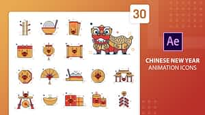 Chinese New Year Animation Icons | After Effects | After Effects Project