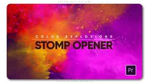 Color Explosions Stomp Opener After Effects Project