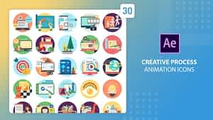 Creative Process Animation Icons | After Effects | After Effects Project