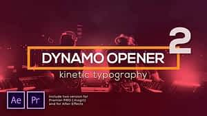 Dynamic Typography Opener v2 After Effects Project