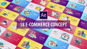 E-Commerce Concept – Flat Animation | After Effects Project