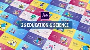 Education and Science Animation | After Effects | After Effects Project