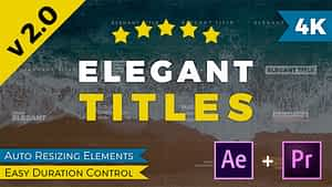 Elegant Titles After Effects | After Effects Project