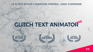Glitch Text Animator PRO | After Effects Project
