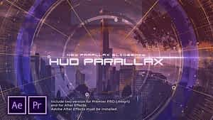 HUD Parallax Slideshow After Effects Project