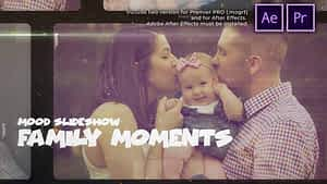 Happy Family Moments Slideshow After Effects Project