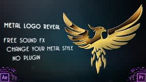 Metal Logo Reveal After Effects Project