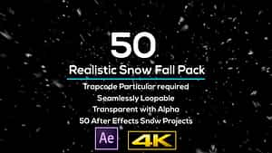 50 Realistic Snow Falls Projects Pack | After Effects Project