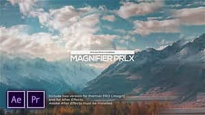 Magnifier Parallax Slideshow After Effects Project