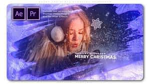 Merry Christmas Parallax Slideshow After Effects Project