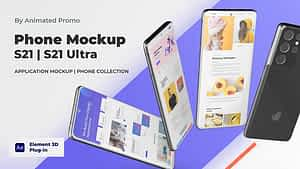 Mobile Mockup Presentation – Android App Promo Mockup | After Effects Project