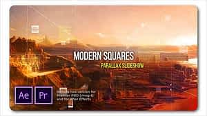 Modern Squares Parallax Slideshow After Effects Project