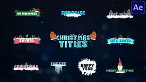 Christmas Titles   After Effects   After Effects Project