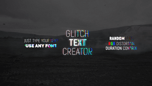 Glitch Text Creator | After Effects Project