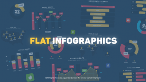 Flat Design Infographics | After Effects Project