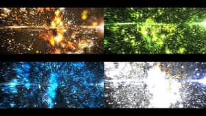 Glowing Particles Logo Reveal After Effects Project