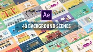 40 Mix Background Scenes | After Effects Project