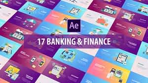 Banking and Finance – Flat Animation   After Effects Project