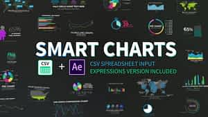 Smart Charts CSV Infographics | After Effects Project