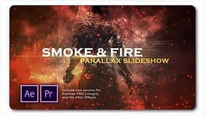Smoke N Fire Parallax Slideshow | After Effects Project