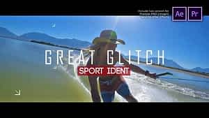 Sport Ident Glitch Slideshow | After Effects Project