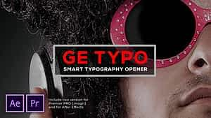 The Typo Smart Opener After Effects Project