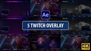 Twitch Overlay Stream Vol.2 | After Effects | After Effects Project