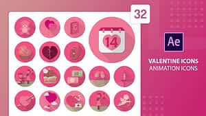 Valentine Animation Icons | After Effects | After Effects Project