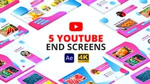YouTube End Screens | After Effects | After Effects Project