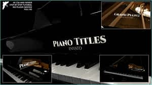 Piano Titles | After Effects Project