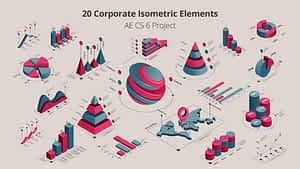 20 Isometric Corporated Elements | After Effects Project