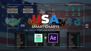 USA Smart Charts Data-Driven Infographics | After Effects Project