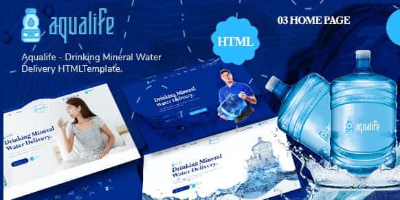 Aqualife - Drinking Mineral Water Delivery HTML5 Template Nulled