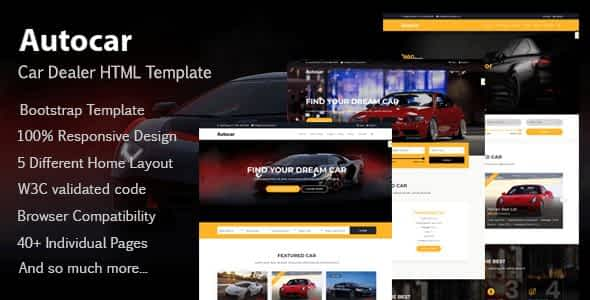 Auto Car - Car Dealer HTML Template