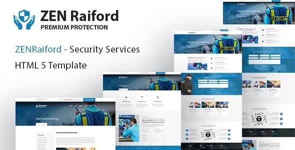 ZenRaiford - Security Services HTML Template
