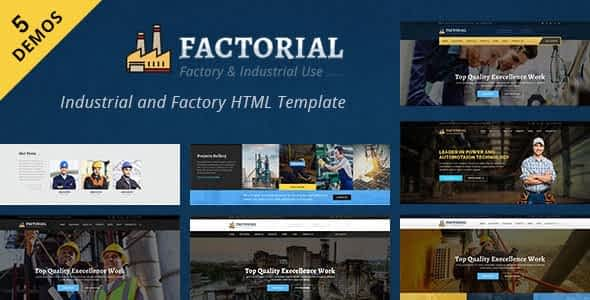 Factorial - Industrial And Engineering HTML Template