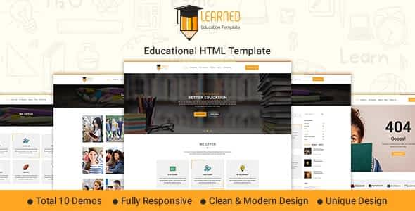 Learned - Education HTML Template