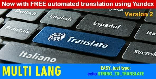 Multi Lang: Your website in multiple languages
