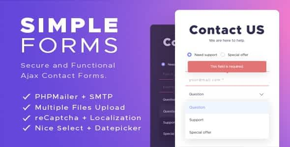 Simple AJAX Contact Forms (Mobile First)