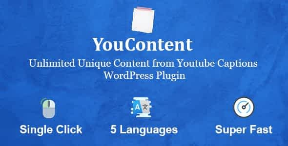 YouContent - Unlimited Unique Content Generator from Youtube Captions