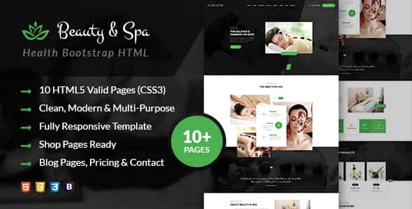 Beauty & Spa   Health Bootstrap HTML Template