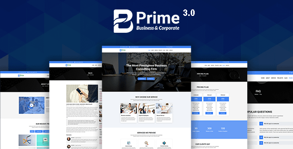 Bprime - Business and Corporate HTML Template