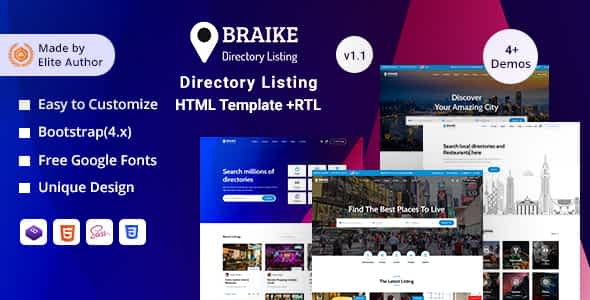 Braike - Directory & Listing HTML Template